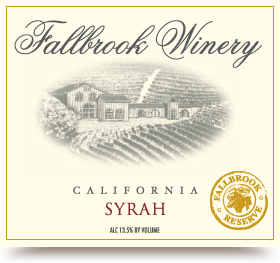 Logo for Fallbrook Winery Syrah Reserve