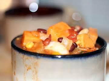 Spicy sweet potato chili