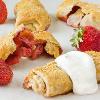 Baked Berry Breakfast Pastries with Whipped Crème Fraîche