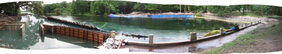 Photo: Panoramic view when the water was at its maximum.