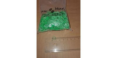 Latex snodd L 10-12mm grön