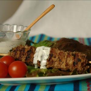 Kebab with Tzatziki Sauce