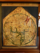Photo: The 13th Century Mappa Mundi - oldest world map to show London, Rome, Paris, etc. in their proper places