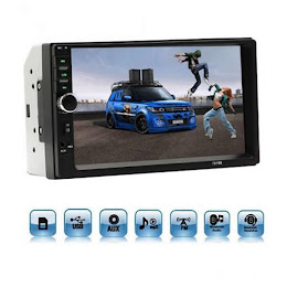 Player Auto MP5 Cu Display Touchscreen 7 Inch, Bluetooth, Slot USB Si MicroSD