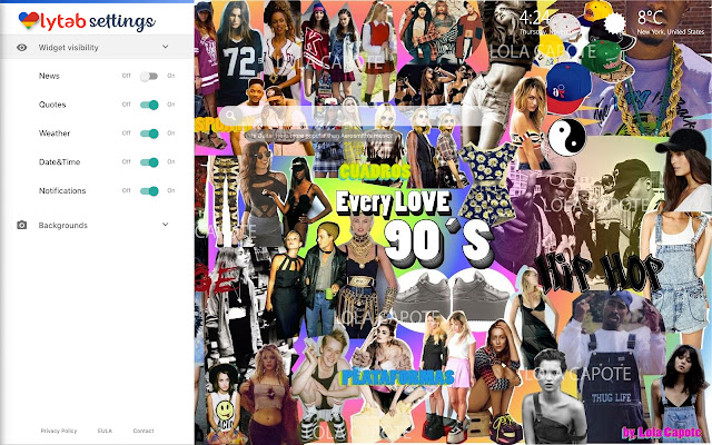 90's Theme 90s Music & 90s Fashion Background