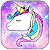 Galaxy Unicorn Shiny Glitter Theme file APK for Gaming PC/PS3/PS4 Smart TV