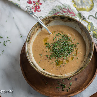 Creamy Vegan Potato Leek Soup.