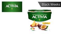 Angebot für Black Weeks:                                                                    Activia leckere Früchte im Supermarkt - Activia