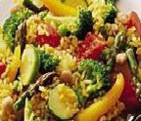 Saffron Vegetable Paella