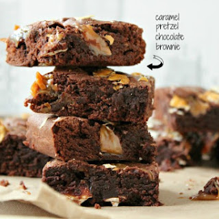 Caramel Pretzel Chocolate Brownies