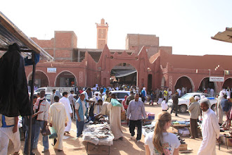 Photo: Ain Salah the day before Eid, extremely busy with last minute shopping