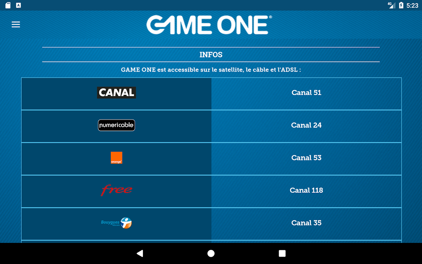 GAME ONE – Capture d'écran