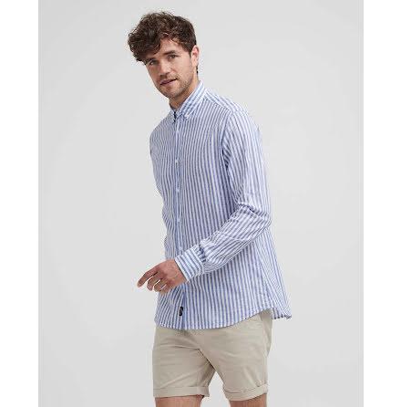 Holebrook Melker shirt white bright cobalt stripe