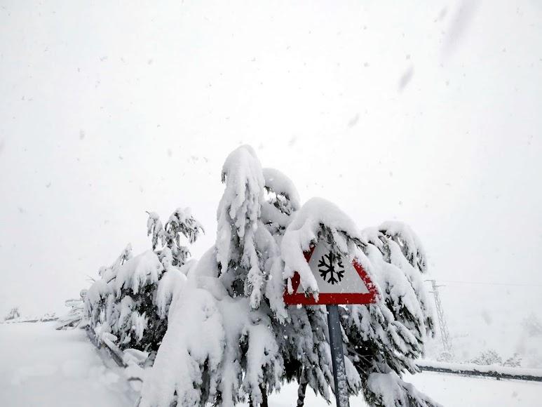 Espectacular nevada en Serón. /Foto Posada del Candil