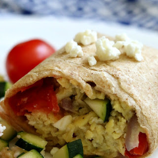 Greek Breakfast Wraps.