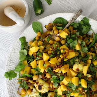 Ottolenghi's Mango and Curried Chickpea Salad.