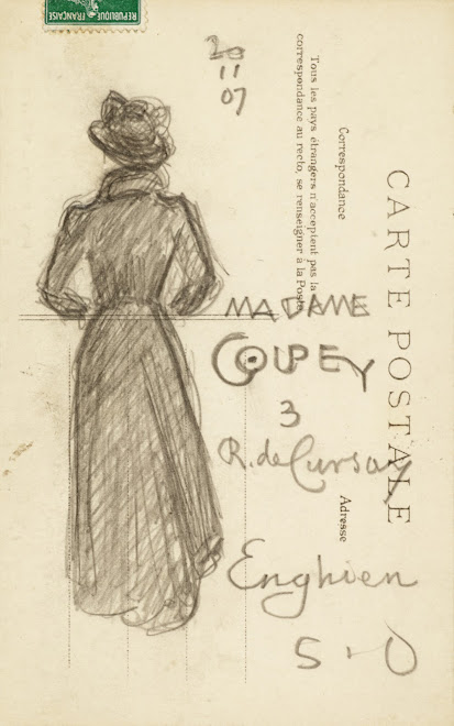 <p> <strong>L&eacute;on Coupey<br /> To Madame Coupey (Enghien)</strong><br /> Graphite on card<br /> 5 &frac12;&quot; x&nbsp;3 &frac12;&quot;&nbsp;<br /> 1907</p> <p> Collection Chantal Coupey, Toronto<br /> Set 4.6&nbsp;</p>
