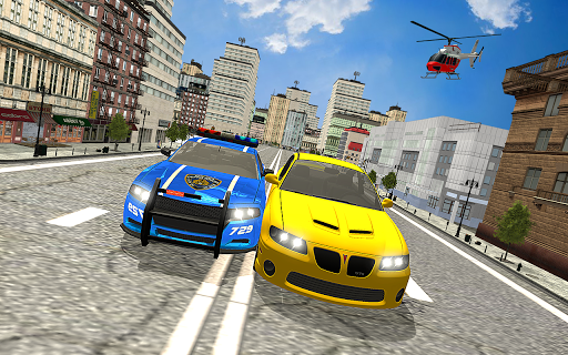 Drive Police Car Gangsters Chase : Free Games  screenshots 3