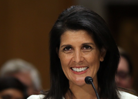 Nikki Haley. Picture:  REUTERS/CARLOS BARRIA