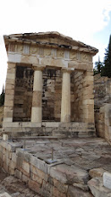Photo: Treasury of Athens. You had to bring an offering to see the Oracle. They stored the better ones in the treasuries (of which there were many)