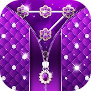 App Purple Diamond Flower Zipper Lock Pattern APK for Windows Phone