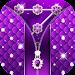 Purple Diamond Flower Zipper Lock Pattern Icon