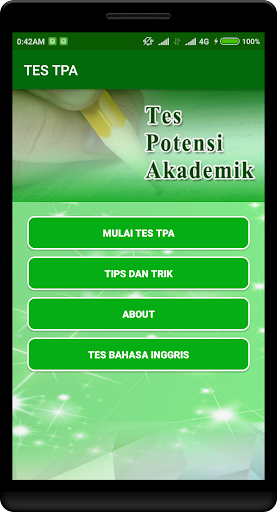 Latihan Tes Potensi Akademik 2018 1.2.0 screenshots 1