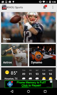 KHOU 11 Houston Sports- screenshot thumbnail