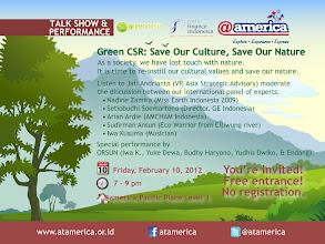 Photo: Greennesia by Radio Finance Indonesia. 10 Feb 2012 at @america