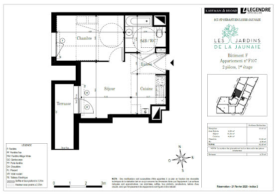 Vente appartement 2 pièces 35,25 m2
