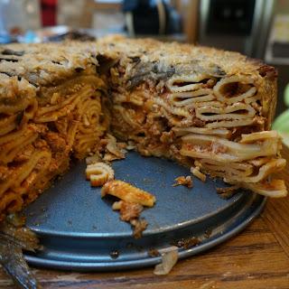 Spaghetti Cake \\ Eggplant Iced Pasta Pie