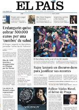 Photo: En nuestra portada hoy, Urdangarin quiso cobrar 500.000 euros a Barcelona por una 'cumbre' de salud, y Rajoy lanzará un discurso duro para justificar sus recortes http://www.elpais.com/static/misc/portada20111219.pdf