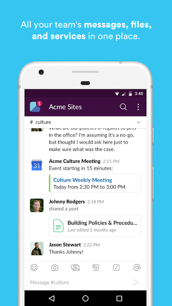 Slack Android App Screenshot