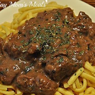 Crock Pot Steak Tips n Gravy