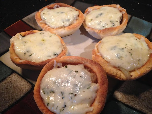 French Onion And Swiss Cheese Cups Recipe