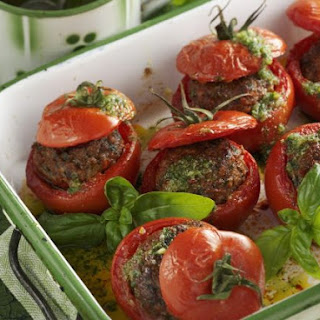 Beef and Basil Stuffed Tomatoes