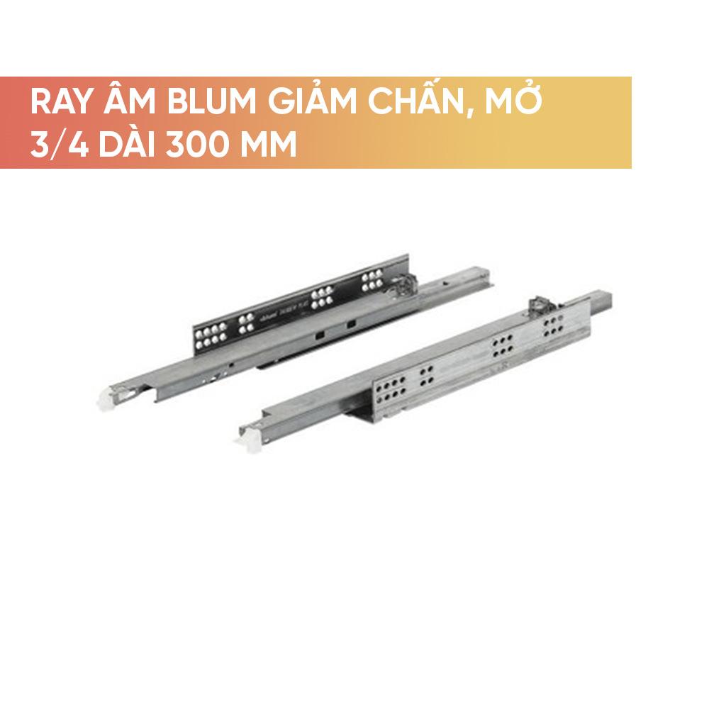 Ray âm Blum giảm chấn mở 3/4 dài 300mm- 423.53.730