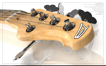 Photo: I really like the way this turned out. You can see the bottom of the tuners in the reflection. Full res at http://img689.imageshack.us/img689/8402/053render03headstock.jpg