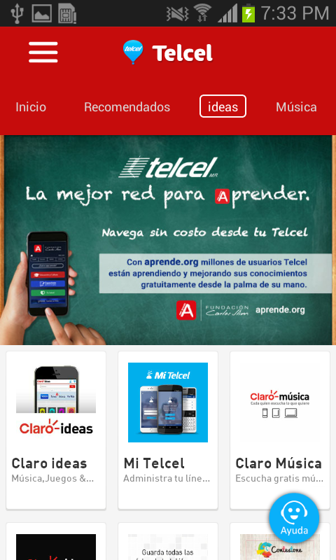Telcel- screenshot