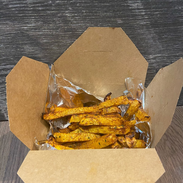 No freezer, no fryers, no potatoes.... all on purpose! Our Freedom Fries are rutabaga, slow-cooked in olive oil for 75 minutes, then hot-air fried until golden brown. High in vitamin C, 1/3 the calories of potato, 10 times the flavor!