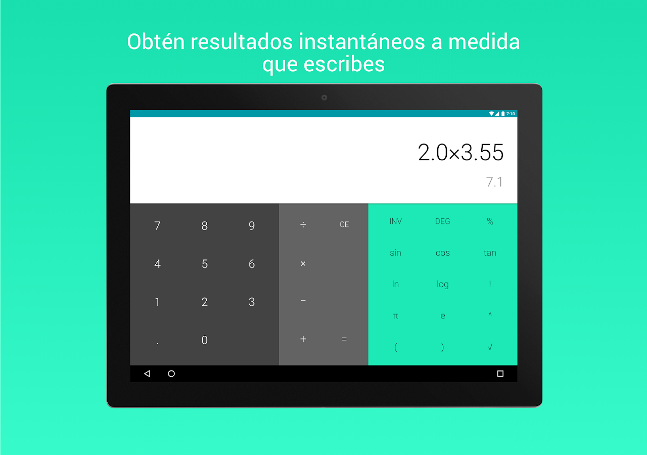 Calculadora: captura de pantalla