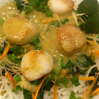 Scallops With Rice Noodles Recipes.
