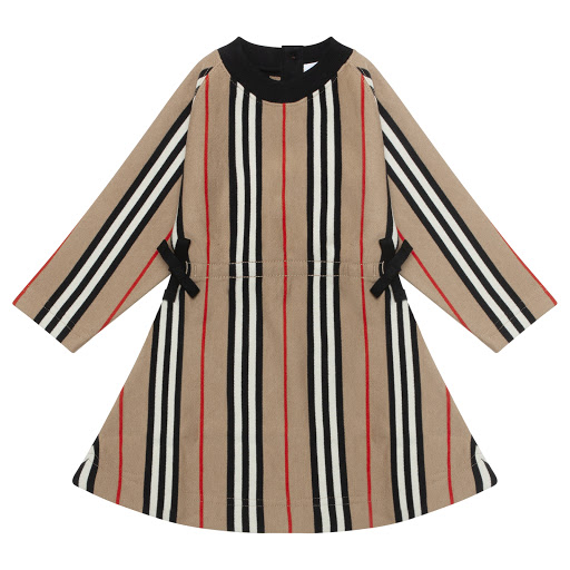 Primary image of Burberry Baby Long Sleeved Dress