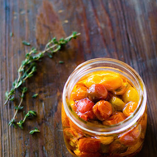 Slow Roasted Cherry Tomatoes Preserved in Olive Oil