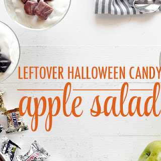 Leftover Halloween Candy Apple Salad