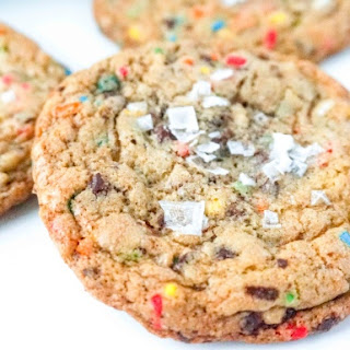 Chocolate Chunk Sprinkle Cookies with Sea Salt