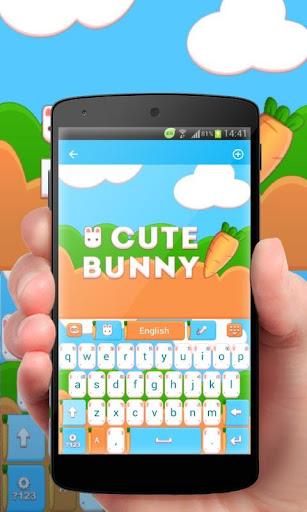 Cute Bunny GO Keyboard Theme