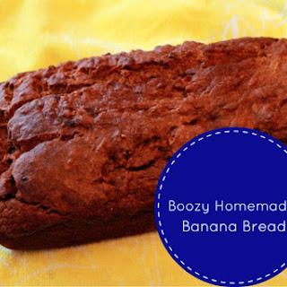 Boozy Homemade Banana Bread