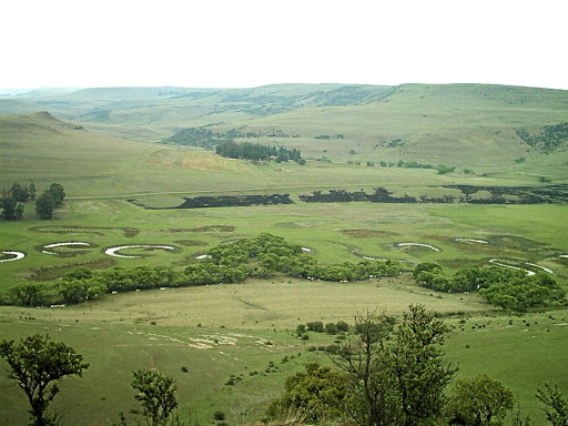 Right, Memel's Sneeuberg farm on the S17, a gravel road which heads south through spectacular farmlands. Picture: SUPPLIED