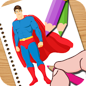 Super Hero Coloring Easy Kids
